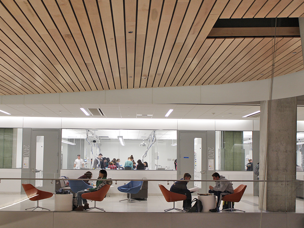 Interior second level of the Science and Engineering Hall