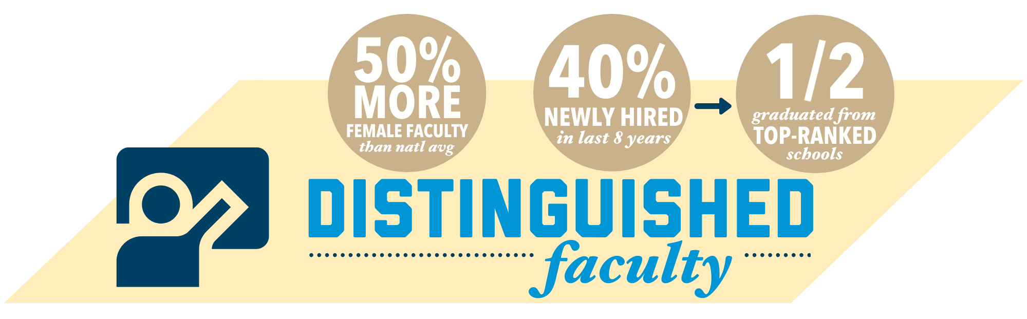 distinguished faculty infographic
