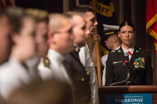 ROTC and veteran students at GW